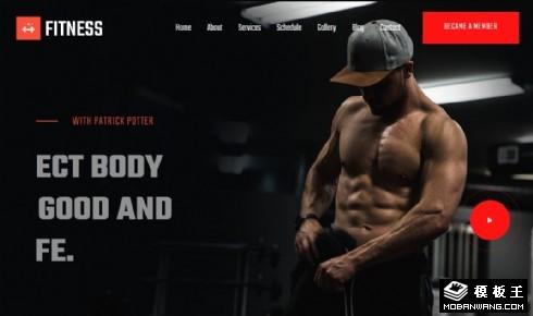 健身活动展示响应式网页模板