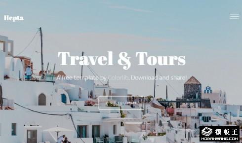 旅程服务推荐指南响应式网站模板