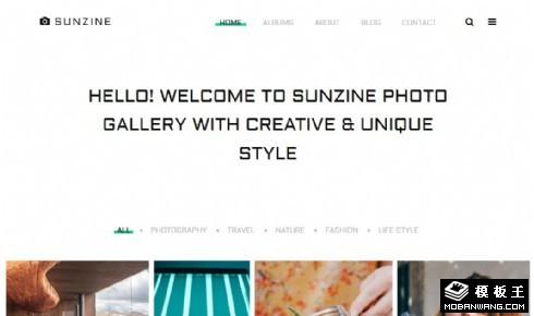 自由摄影图库响应式网站模板