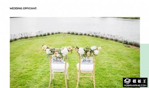 婚礼策划咨询响应式网站模板