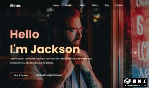 摄影作品集响应式网页模板
