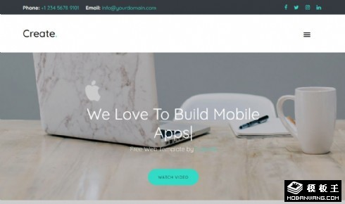 视觉创意产品服务响应式网站模板
