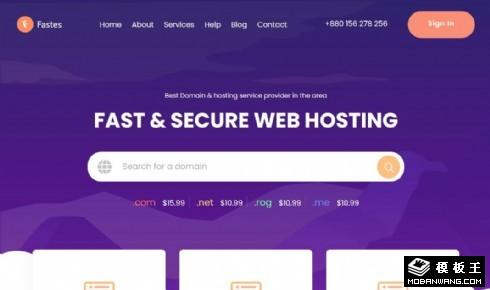 WEB空间托管服务响应式网页模板