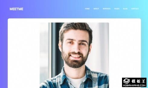 个人业务展示响应式网页模板