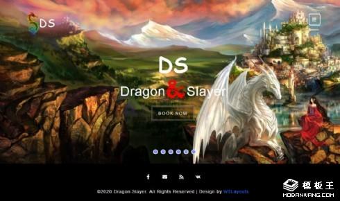 游戏主题展示响应式网页模板
