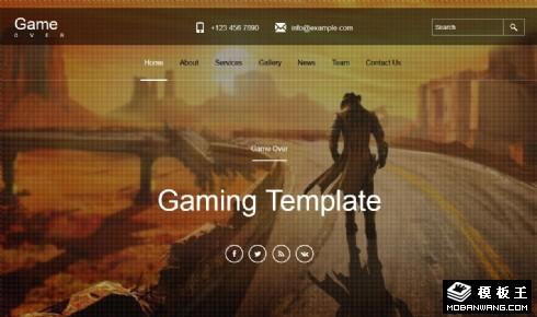 游戏产品研发团队响应式网页模板