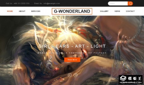 幻境游戏展示响应式网站模板