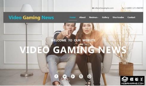 游戏视频动态响应式网页模板