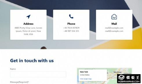 联系方式地图响应式网页模板