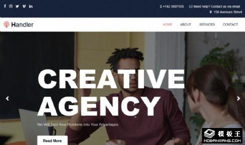 创意营销顾问响应式网页模板
