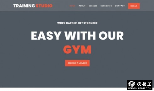 健身训练工作室响应式网页模板