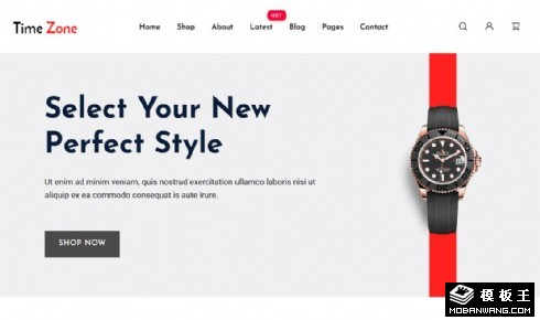 手表商城响应式网站模板