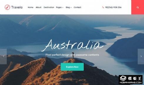 旅行景区服务展示响应式网页模板
