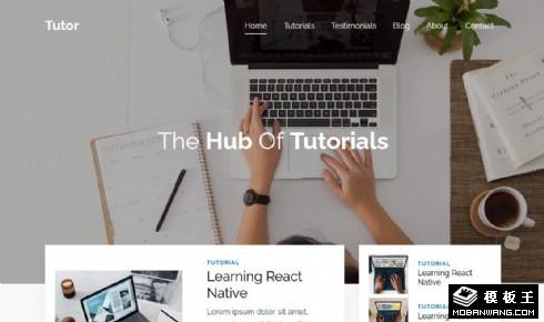 专业视频教程展示响应式网页模板