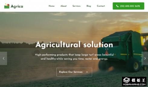 农场技术服务响应式网页模板