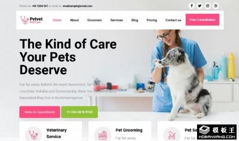宠物兽医服务响应式网页模板