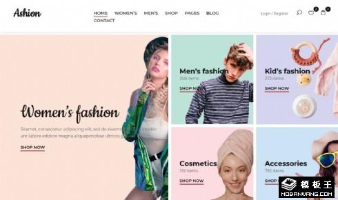 时尚商城产品展示响应式网页模板
