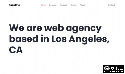 简洁业务案例动态响应式网页模板