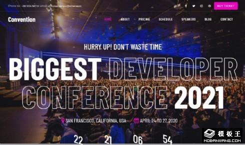 开发者会议展示响应式网页模板