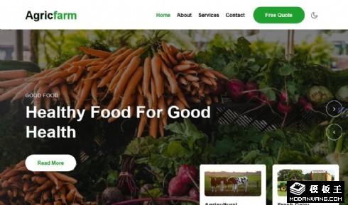 健康农业产品展示响应式网页模板