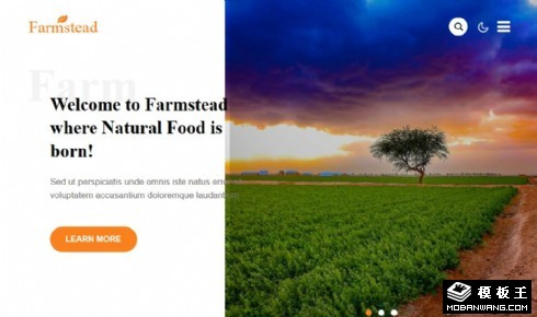 农业工程管理响应式网页模板