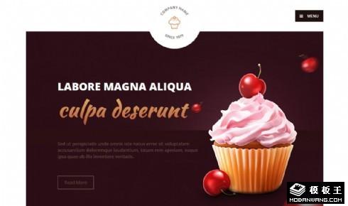 糕点甜食店响应式网页模板
