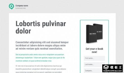 电子书出版响应式网页模板