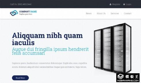 互联网数据机房响应式网页模板