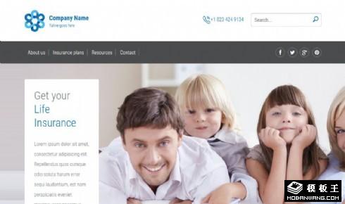 保险规划业务响应式网页模板