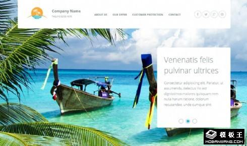 旅行业务推荐响应式网页模板