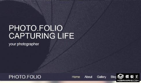 摄影师日志动态响应式网页模板