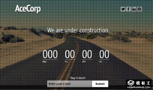 信息公路倒计时响应式网页模板