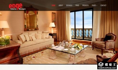 豪华室内装修设计响应式网页模板
